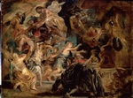 Rubens, Pieter Paul - The Death of Henry IV and the Proclamation of the Regency