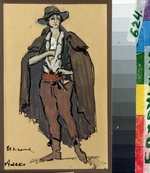 Korovin, Konstantin Alexeyevich - Costume design for the opera Aleko by S. Rakhmaninov