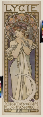 Mucha, Alfons Marie - Poster for the dance group Lygie (Upper part)