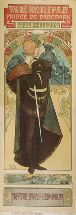 Mucha, Alfons Marie - Poster for the theatre play Hamlet by W. Shakespeare in the Theatre Sarah Bernardt