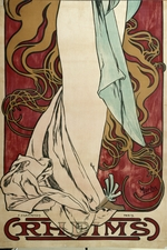 Mucha, Alfons Marie - Poster for Champagne Ruinart (Lower part)
