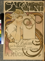 Mucha, Alfons Marie - Poster for the A. Mucha's exhibition in the Salon des Cent