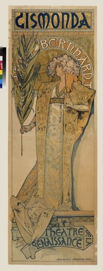 Mucha, Alfons Marie - Poster for the theatre play Gismonda by V. Sardou  (Upper part)