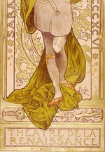 Mucha, Alfons Marie - Poster for the theatre play Lorenzaccio by A. de Musset in the Theatre de la Renaissanse (Lower part)