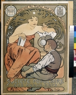 Mucha, Alfons Marie - Poster for the Societe Populaire des Beaux Arts