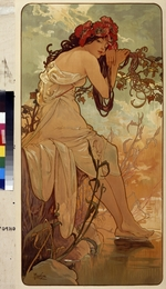 Mucha, Alfons Marie - Summer (From the Series Les Saisons)