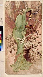 Mucha, Alfons Marie - Winter (From the Series Les Saisons)