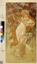Mucha, Alfons Marie - Spring (From the Series Les Saisons)