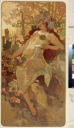 Mucha, Alfons Marie - Autumn (From the Series Les Saisons)