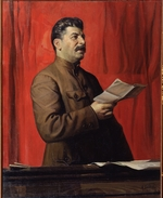 Brodsky, Isaak Izrailevich - Portrait of Joseph Stalin (1879-1953)