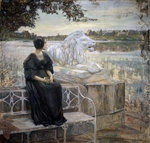 Brodsky, Isaak Izrailevich - Portrait of the artist's wife