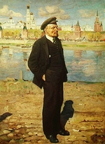 Brodsky, Isaak Izrailevich - Lenin before the Kremlin