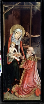 Master of Switzerland - The Adoration of the Magi. Virgin and Child