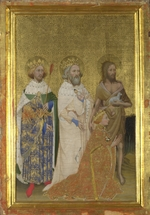 Wilton Master - Richard II of England with his patron saints (The left inside panel of the Wilton Diptych)