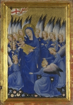 Wilton Master - Virgin and Child with Angels (The right inside panel of the Wilton Diptych)
