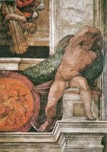 Buonarroti, Michelangelo - Detail of the Sistine Chapel ceiling in the Vatican