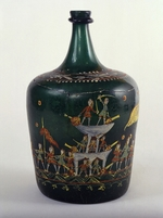 Russian master - Bucket Bottle with a scene of the naval Battle of Gangut
