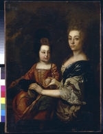 Anonymous - Portrait of the Tsar of Russia Ivan VI Antonovich (1740-1764) with lady-in-waiting Julia von Mengden