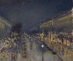 Pissarro, Camille - The Boulevard Montmartre at Night