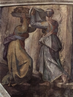 Buonarroti, Michelangelo - Detail of the fresco Judith and Holofernes on the wall in Sistine chapel