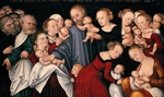 Cranach, Lucas, the Elder - Christ Blessing the Children (Let the little children come to me)
