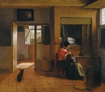 Hooch, Pieter, de - Interior with a Mother delousing her Child's Hair (A Mother's Duty)