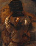 Rembrandt van Rhijn - Moses Breaking the Tablets of the Law