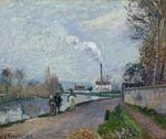 Pissarro, Camille - The Oise near Pontoise in Grey Weather
