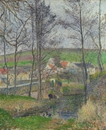 Pissarro, Camille - The banks of the Viosne at Osny in grey weather