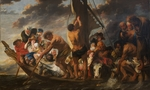 Jordaens, Jacob - The Tribute Money. Peter Finding the Silver Coin in the Mouth of the Fish. (The Ferry Boat to Antwerp)