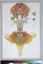 Bakst, Léon - Costume design for Tamara Karsavina in the ballet The Firebird (L'oiseau de feu) by I. Stravinsky