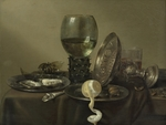 Heda, Willem Claesz - Still Life with Oysters, a Rummer, a Lemon and a Silver Bowl