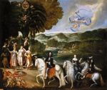 Deruet, Claude - Allegory of the Treaty of the Pyrenees (Allegory of the Marriage of Louis XIV)