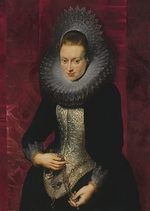 Rubens, Pieter Paul - Portrait of a young Woman with a Rosary