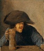 Brouwer, Adriaen - Peasant with Bicorne and Tankard