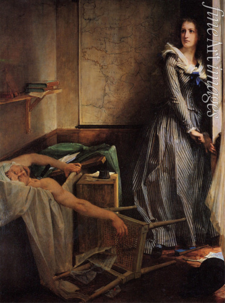 Baudry Paul Jacques Aimé - Die Ermordung Marats durch Charlotte Corday