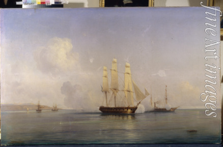 Bogolyubov Alexei Petrovich - Russian Brig fighting tth Turkish ships