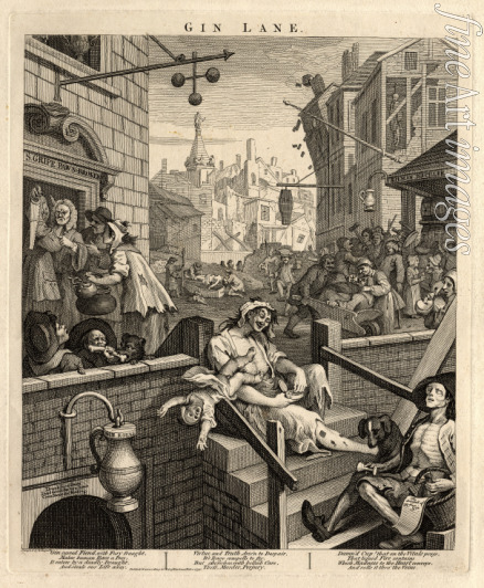 Hogarth William - Gin Lane (Beer Street and Gin Lane 2)