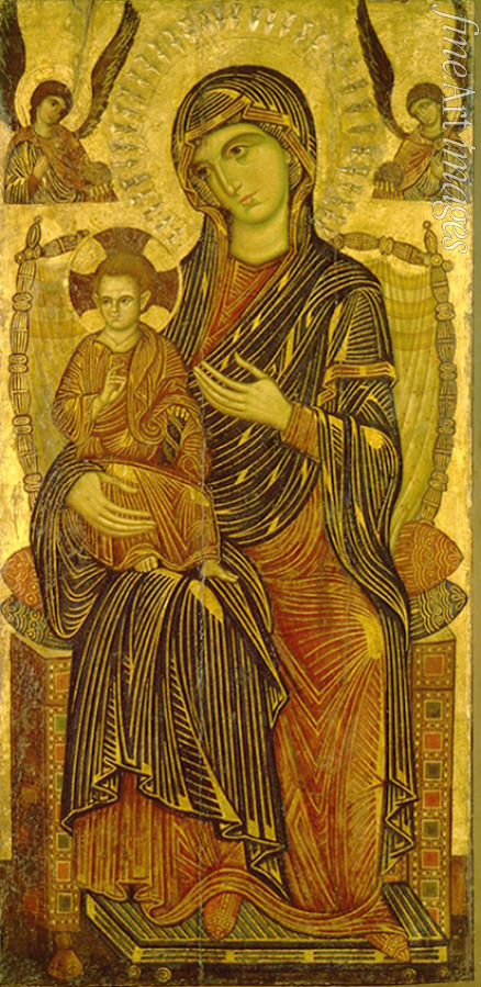 Pisan master - Virgin and Child enthroned