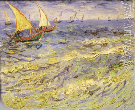 Gogh Vincent van - The sea at Saintes-Maries