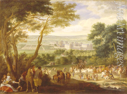 French master - The Arrival of the King Louis XIV in Vincennes