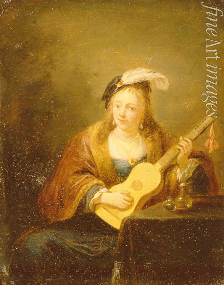Teniers David the Younger - Woman with a Guitar